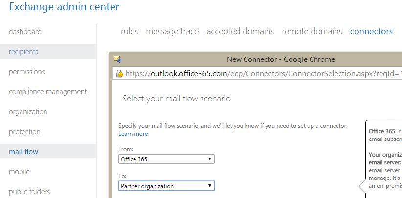 Setting Office 365 outbound connectors